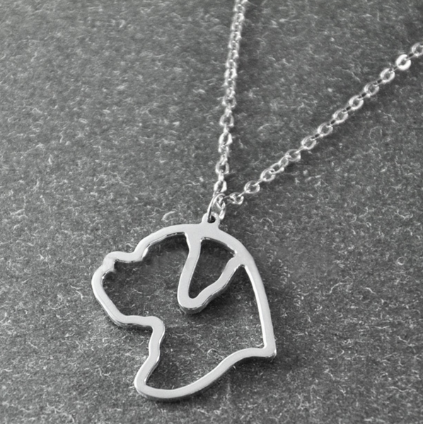 Boxer Silhouette Pendant Necklace