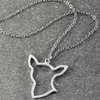 Chihuahua Silhouette Pendant Necklace