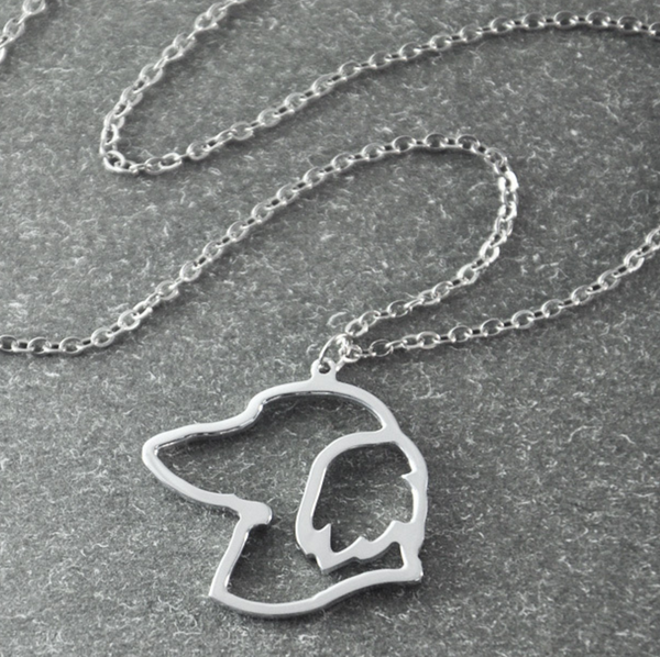Dachshund Silhouette Pendant Necklace