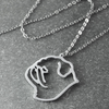 Pug Silhouette Pendant Necklace