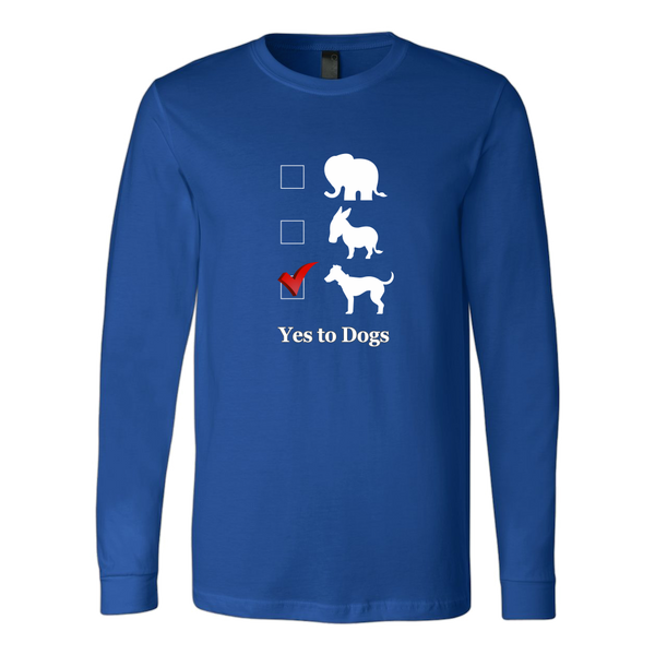 Vote Dogs! Election Men's t-shirt, long sleeve t-shirt, sweatshirt