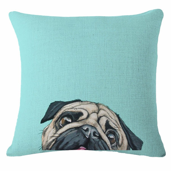 Pug Pillow Cases - Peekaboo