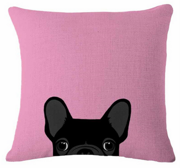 Boston Terrier Pillow - Black Peekaboo