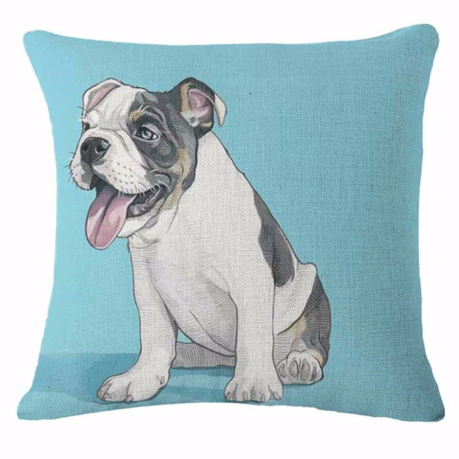 boston terrier pillow  happy pants  tao of dogs - boston terrier pillow  happy pants