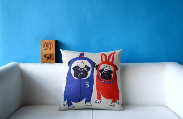Pug Pillow Cases - Costumes