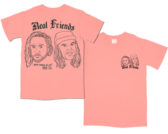 REAL FRIENDS 006 T-SHIRT [BRIGHT SALMON]