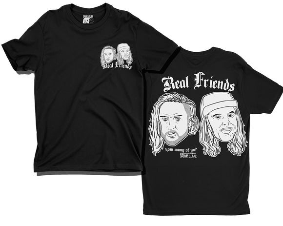 REAL FRIENDS 006 T-SHIRT [BLACK]