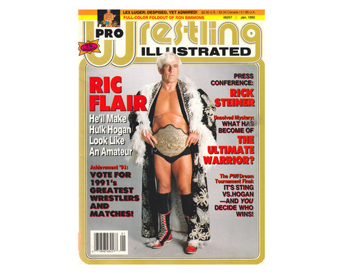 PRO WRESTLING IILLUSTRATED - JANUARY 1992