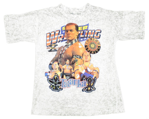 WWF Tatanka Indian Spirits Wrestlemania 10 Shirt at Stashpages