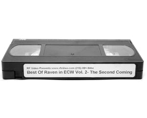 RF BEST OF RAVEN IN ECW VOL. 2 VHS TAPE