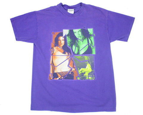 WWF LITA PURPLE VINTAGE T-SHIRT M