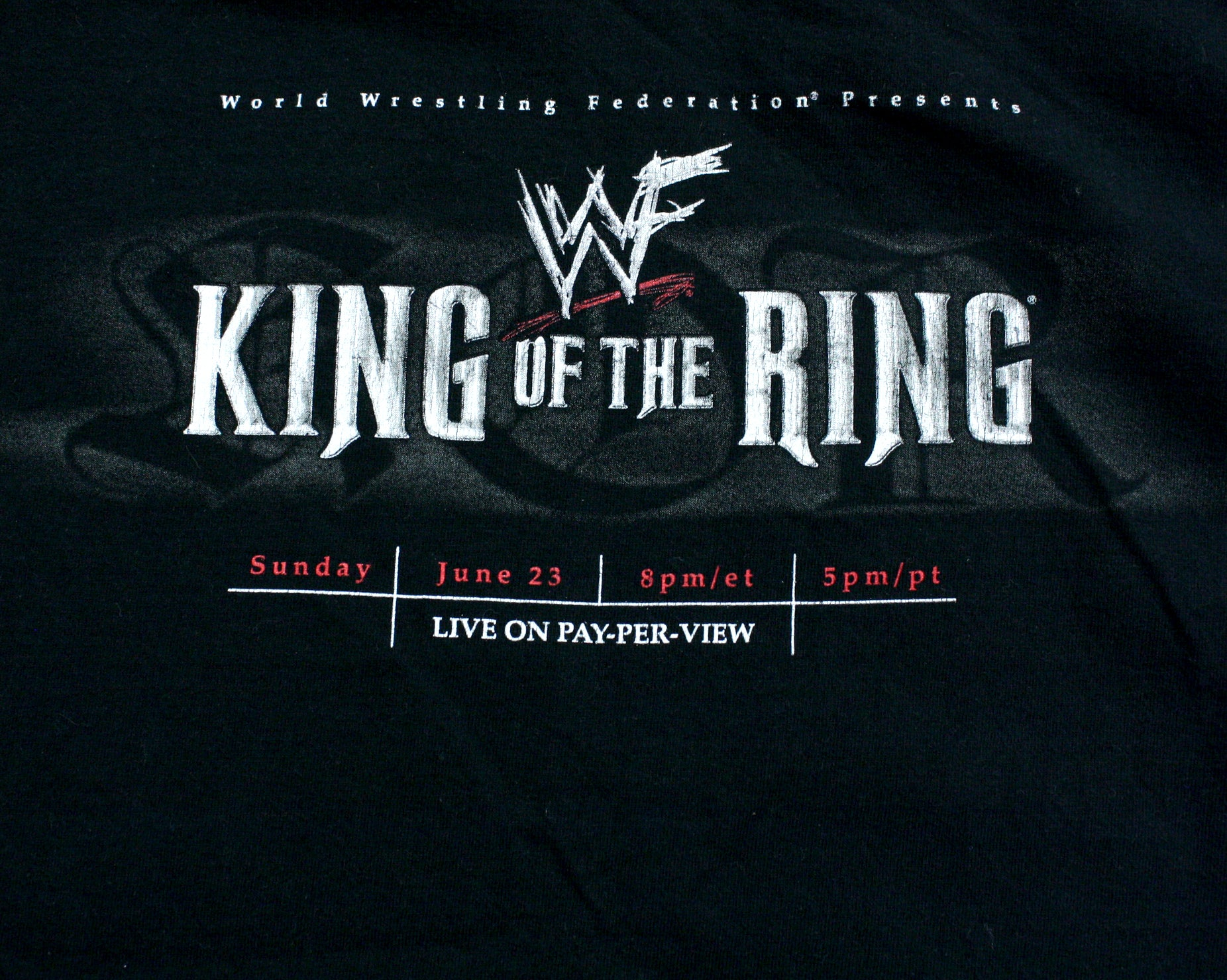 Wwf King Of The Ring 2002 T Shirt Xl Stashpages