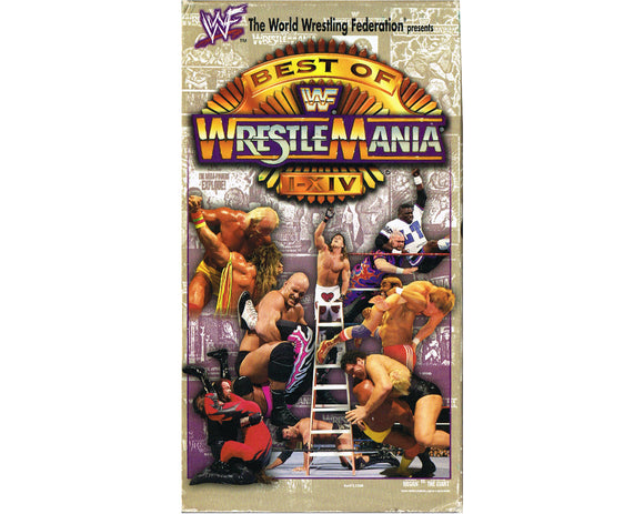 WWF BEST OF WRESTLEMANIA 1-14 VHS TAPE