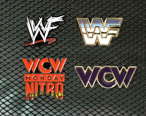 WWF vs. WCW Pins 4-Pack