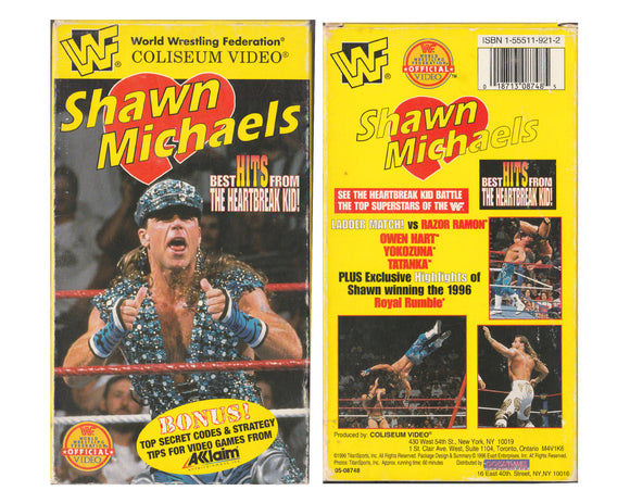 WWF SHAWN MICHAELS BEST HITS FROM THE HBK VHS TAPE