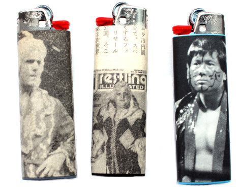 ASSORTED WRESTLING LIGHTERS