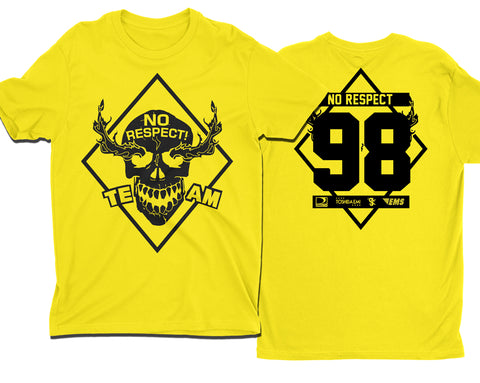 TEAM NO RESPECT YELLOW T-SHIRT