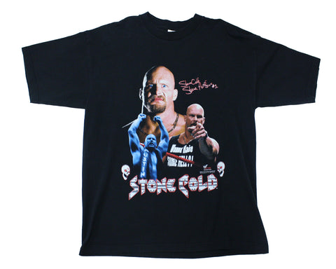 WWF STONE COLD STEVE AUSTIN '3 FACES' VINTAGE T-SHIRT XL