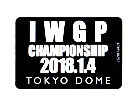 WRESTLEKINGDOM BRIEFCASE MAGNET