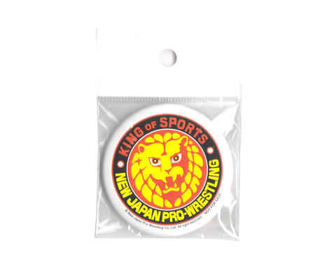 NJPW Lionmark Button