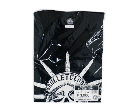 NJPW BULLET CLUB 'BC RULES' / STATUE OF LIBERTY T-SHIRT LG