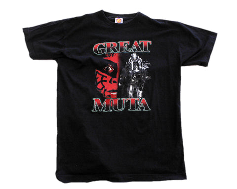 NJPW GREAT MUTA HALF FACE T-SHIRT LG