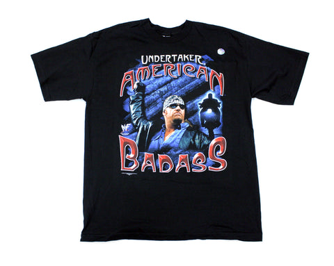 WWF THE UNDERTAKER AMERICAN BADASS T-SHIRT XL