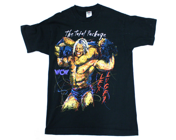 WCW LEX LUGER TOTAL PACKAGE SKETCH T-SHIRT LG