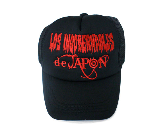 NJPW LOS INGOBERNABLES BLACK/RED MESH HAT