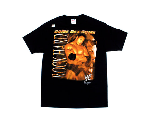 WWF THE ROCK COME GET SOME T-SHIRT LG