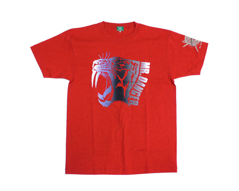 MATSUNAGA MR. DANGER RED T-SHIRT LG