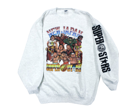 NJPW CARTOON SUPERSTARS SWEATSHIRT LG