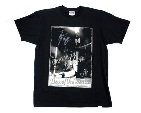 BULL NAKANO BOSS OF THE WORLD SIGNED T-SHIRT LG
