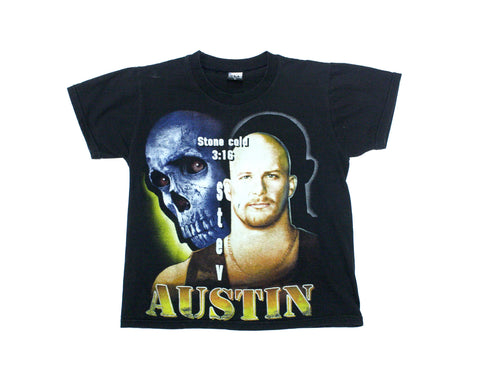 WWF STONE COLD 'BOOTLEG SKULL' VINTAGE T-SHIRT SMALL