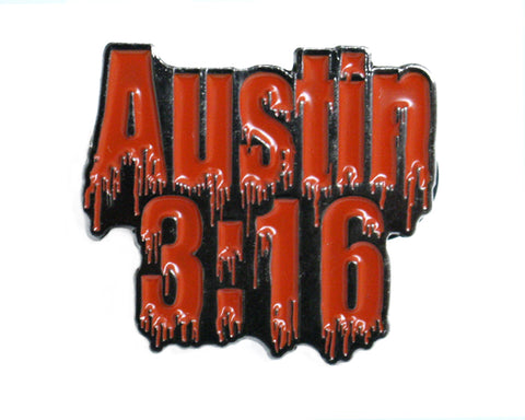 'BLOOD FROM A STONE' AUSTIN LOGO PIN