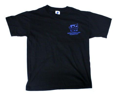 WWF BLUE LOGO / STONE COLD T-SHIRT YOUTH L / XS