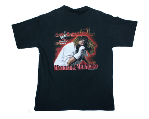 WWF MANKIND 'DON'T FEED THE ANIMALS' VINTAGE T-SHIRT XL