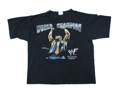 WWF STONE COLD STEVE AUSTIN 'WORLD CHAMP' VINTAGE T-SHIRT SMALL
