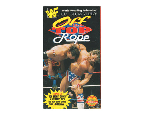 WWF OFF THE TOP ROPE VHS TAPE