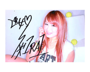 IO SHIRAI AUTOGRAPHED PHOTO