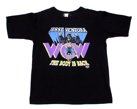 WCW JESSE VENTURA THE BODY IS BACK T-SHIRT LG