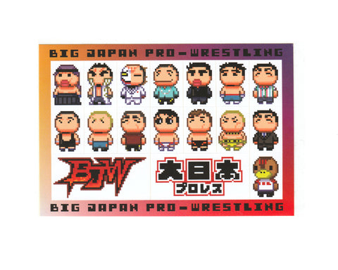 BJW 8-BIT STICKERS SHEET