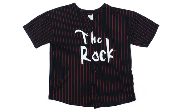 WWF THE ROCK 'THE GREAT 1' VINTAGE BASEBALL JERSEY XL