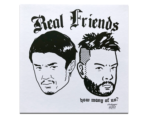 REAL FRIENDS 001 POSTER PRINT