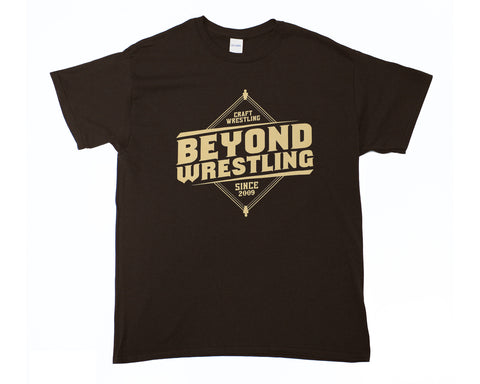 Beyond Wrestling Brown Logo T-Shirt