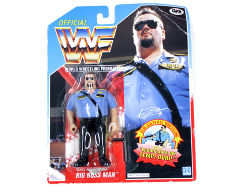 WWF BIG BOSS MAN HASBRO ITALIAN VERSION FIGURE