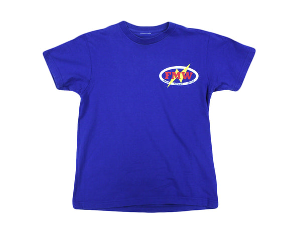 FMW LOGO BLUE T-SHIRT SMALL