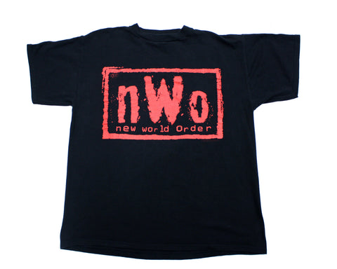 WCW NWO WOLFPAC RED LOGO VINTAGE T-SHIRT L