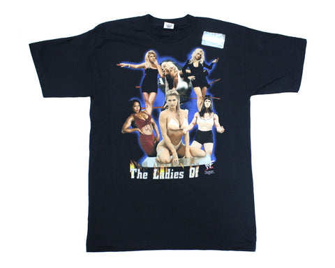 WWF LADIES OF WWF VINTAGE T-SHIRT L *NWOT*