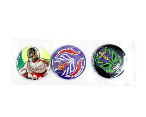 Rey Misterio Jr. Buttons Set
